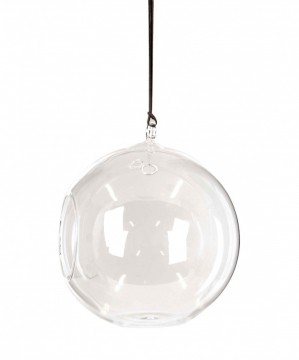 Glass Ball m/reim, D:18cm H:20cm