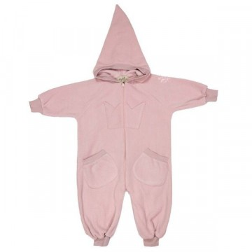 Memini Bunny Fleece Overall, Dusty Rose