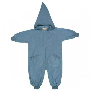 Memini | Bunny Fleece Overall, Mirage Blue