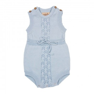 MeMini | Kira Knit Romper Summer Blue