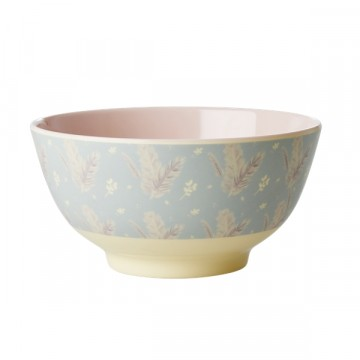 Rice | Melamine Bowl Feather Print