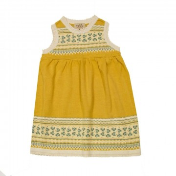 MeMini | Beate Baby Knit Dress Ochre