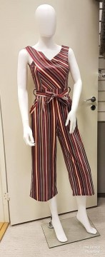 Missi | Jumpsuit Buksedress Striper rød