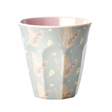 Rice | Melamine Cup Feather Print