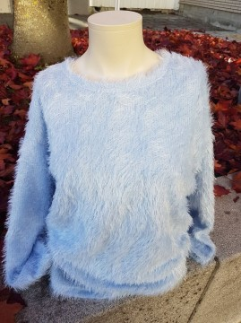 Freequent | Fluffy Pullover Cashmere blue